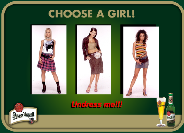Pilsner Urquell Undress Strip