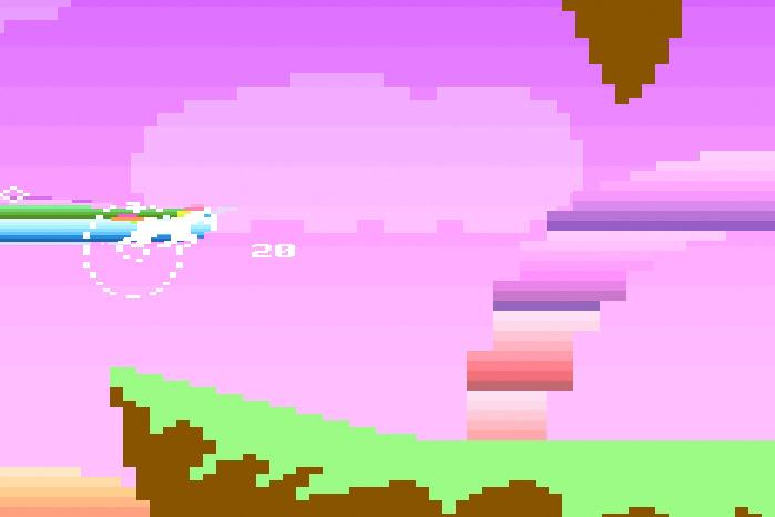 Retro unicorn attack