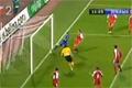 Ilija Sivonjic missar målet från 7,5 cm