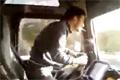 Taggad lastbilschaufför från Rumänien