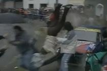 Mamma och dotter påkörda av rallybil