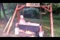 Redneck tvättar sig